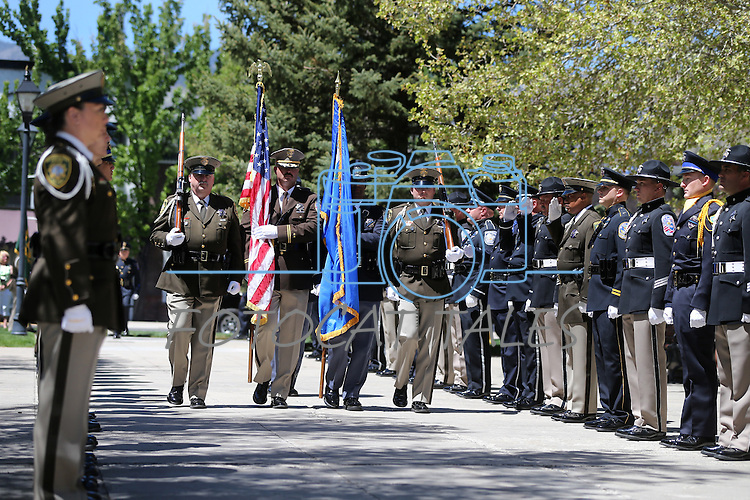 Images from the Nevada Law Enforcement Officers Memorial Ceremony on Thursday, May 2, 2013, at the Capitol in Carson City, Nev..Photo by Cathleen Allison