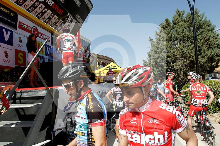 Etapa en linea ruta vuelta a Madrid 2011 Bicicletas Salchi, Mariscos Castellar. (ALTERPHOTOS/Alvaro Hernandez)