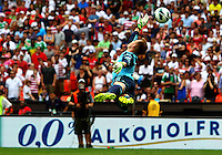 WASHINGTON, DC - June 02 2013: USA MNT v Germany MNT in the US Soccer Centennial match at RFK Stadium, in Washington DC. Marc-André ter Stegen (22) is beaten on Clint Dempsey's second goal.  USA won 4-3.