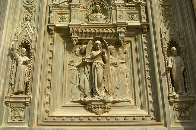 The Dome Cathederal  - Detail Of Doors ; Florence Italy