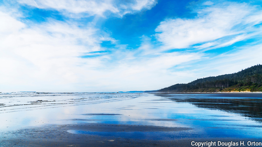 Kalaloch Beach in Olympic National Park, Washington.  Beaches in the Kalaloch area of Olympic National Park, identified by trail numbers, are remote and wild.  Olympic Peninsula, Olympic Mountains, Olympic National Park, Washington State, USA.