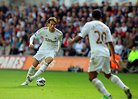 Saturday, 20 October 2012<br /> Pictured: Michu of Swansea (L)<br /> Re: Barclays Premier League, Swansea City FC v Wigan Athletic at the Liberty Stadium, south Wales.