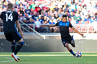 STANFORD, CA - JUNE 29: Marcos Lopez #27 during a Major League Soccer (MLS) match between the San Jose Earthquakes and the LA Galaxy on June 29, 2019 at Stanford Stadium in Stanford, California.