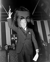 Le Premier ministre Jean Lesage<br /> , le 8 novembre 1962<br /> <br /> Photographe : Photo Moderne<br /> - Agence Quebec Presse