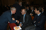 GIANNI LETTA CON FRANCESCO STORACE ED ENRICO GASBARRA<br /> MESSA DI RINGRAZIAMENTO PER I 50 ANNI DI SACERDOZIO DEL CARDINAL CAMILLO RUINI - SAN GIOVANNI IN LATERANO ROMA 2004