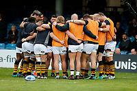 Photo: Richard Lane/Richard Lane Photography. Bath Rugby v Wasps. Gallagher Premiership. 05/05/2019. Wasps huddle.