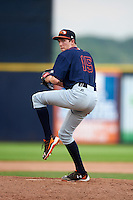 Bowing Green Hot Rods relief pitcher Tyler Brashears (15) during a game against the Quad Cities River Bandits on July 24, 2016 at Modern Woodmen Park in Davenport, Iowa.  Quad Cities defeated Bowling Green 6-5.  (Mike Janes/Four Seam Images)