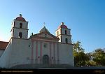 Chapel at Sunset, Mission Santa Barbara, California