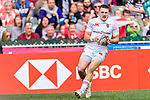 Will Eduards of England runs with the ball for score his goal during the HSBC Hong Kong Sevens 2018 match between South Africa and England on April 7, 2018 in Hong Kong, Hong Kong. Photo by Marcio Rodrigo Machado / Power Sport Images