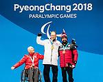 Collin Cameron, PyeongChang 2018 - Para Nordic Skiing // Ski paranordique.<br /> Collin Cameron collects his bronze medal in the men's biathlon 7.5km sitting // Collin Cameron remporte sa médaille de bronze au biathlon masculin 7,5 km assis. 10/03/2018.