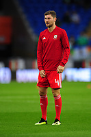 Ben Davies of Wales during the pre-match warm-up for the UEFA Nations League B match between Wales and Ireland at Cardiff City Stadium in Cardiff, Wales, UK.September 6, 2018