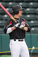 Catcher Greg Brodzinski (34) of the South Carolina Gamecocks prior to a game against the Clemson Tigers on Tuesday, March 8, 2011, at Fluor Field in Greenville, S.C.  Photo by Tom Priddy / Four Seam Images