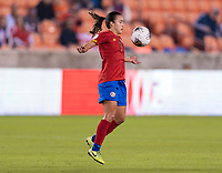 HOUSTON, TX - JANUARY 28: Melissa Herrera #7 of Costa Rica controls the ball during a game between Costa Rica and Panama at BBVA Stadium on January 28, 2020 in Houston, Texas.