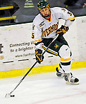 10 January 2009: University of Vermont Catamount forward Brayden Irwin, a Junior from Toronto, Ontario, in action against the Boston College Eagles in the second game of a weekend series at Gutterson Fieldhouse in Burlington, Vermont. The Catamounts rallied from an early 2-0 deficit to defeat the visiting Eagles 4-2. Mandatory Photo Credit: Ed Wolfstein Photo