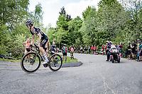 George Bennett (NZL/Jumbo-Visma) up the final climb of the day; the Alpe di Mera (1560m)<br /> <br /> 104th Giro d'Italia 2021 (2.UWT)<br /> Stage 19 from Abbiategrasso to Alpe di Mera (Valsesia)(176km)<br /> <br /> ©kramon