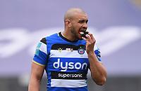 20th March 2021; Recreation Ground, Bath, Somerset, England; English Premiership Rugby, Bath versus Worcester Warriors; Jonathan Joseph of Bath between plays
