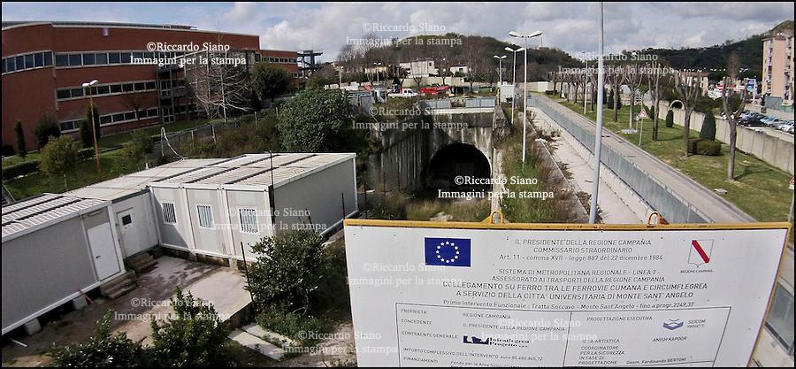 - NAPOLI 26 FEB  2014 - Il cantiere della stazione di Monte Sant'Angelo - Soccavo.