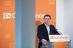 Ciudadanos political party leader Albert Rivera during a press conference in Madrid, Spain. November 06, 2015. (ALTERPHOTOS/Victor Blanco)