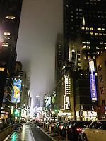 America,New York,  Manhattan, night view of a street