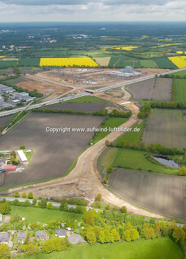 Kraftzuwegung:EUROPA, DEUTSCHLAND, SCHLESWIG- HOLSTEIN 21.05.2005:Zuwegung Kraft Barsbuettel, K29, A1 Luftbild, Luftansicht