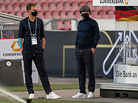 3rd September 2020; Stuttgart, Germany; UEFA Nations League football, Germany versus Spain; Joachim Loew,  with Oliver Bierhoff, GEREP_EER