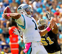 The Carolina Panthers vs. The NEw Orleans Saints at Bank of America Stadium in Charlotte, North Carolina...Photos by: Patrick Schneider Photo.com