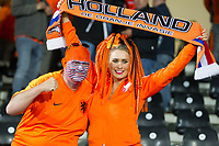 Guimaraes, Portugal - Thursday, June 6, 2019: Netherlands beat England 3-1 in overtime to reach the final of UEFA Nations League 2019 at D. Afonso Henriques Stadium in Guimaraes. Dutch Fans celebrate the victory.