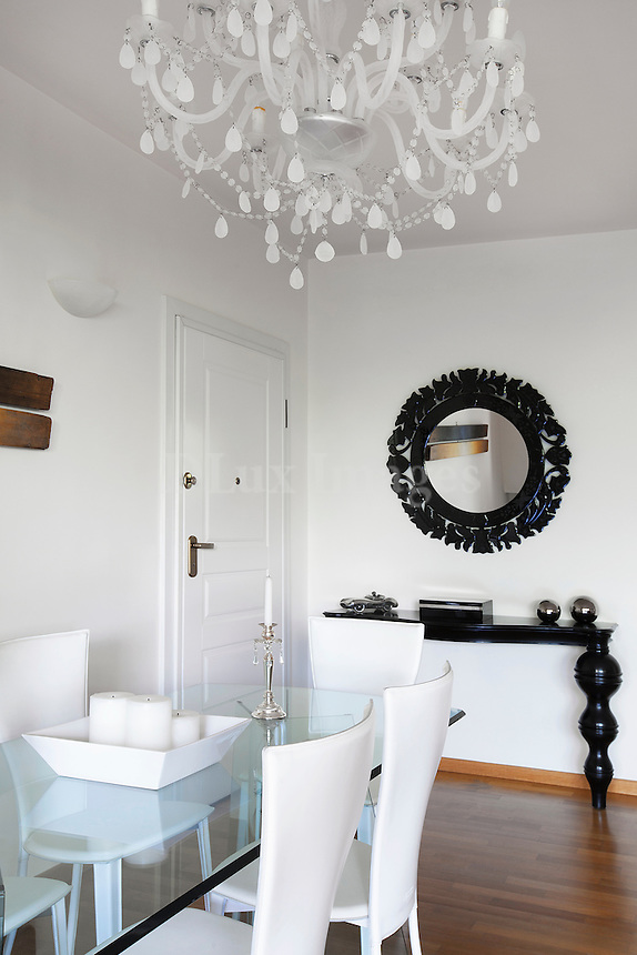 Black modern console table