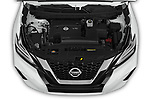 Car Stock 2019 Nissan Murano SL 5 Door SUV Engine  high angle detail view