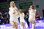 Real Madrid's cheerleaders during Euroleague match.January 22,2015. (ALTERPHOTOS/Acero)