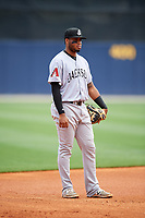 Jackson Generals third baseman Dawel Lugo (31) during a game against the Biloxi Shuckers on April 23, 2017 at MGM Park in Biloxi, Mississippi.  Biloxi defeated Jackson 3-2.  (Mike Janes/Four Seam Images)