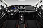 Stock photo of straight dashboard view of 2016 Subaru Crosstrek Hybrid-Touring 5 Door SUV Dashboard