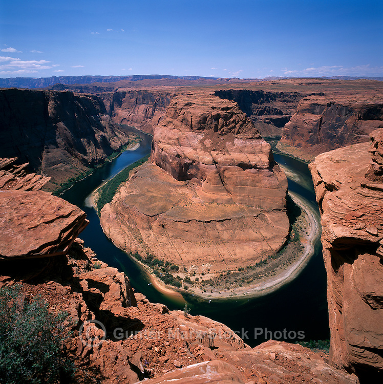 Colorado River at Horseshoe Bend, near Page, Arizona, USA - Glen Canyon National Recreation Area