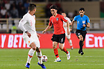 Hwang Inbeom of South Korea in action during the AFC Asian Cup UAE 2019 Group C match between South Korea (KOR) and China (CHN)  at Al Nahyan Stadium on 16 January 2019 in Abu Dhabi, United Arab Emirates. Photo by Marcio Rodrigo Machado / Power Sport Images