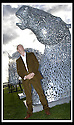14/11/2007       Copyright Pic: James Stewart.File Name : sct_jspa13_helix.SCULPTOR ANDY SCOTT STANDS NEXT TO SCALE MODELS OF THE TWO 30 METRE HIGH KELPIES WHICH WILL BE THE CENTRE PIECE OF FALKIRK COUNCIL'S FOR THEIR HELIX PROJECT WHICH.RECEIVED £25 MILLION POUND FROM THE BIG LOTTERY FUND... .James Stewart Photo Agency 19 Carronlea Drive, Falkirk. FK2 8DN      Vat Reg No. 607 6932 25.Office     : +44 (0)1324 570906     .Mobile   : +44 (0)7721 416997.Fax         : +44 (0)1324 570906.E-mail  :  jim@jspa.co.uk.If you require further information then contact Jim Stewart on any of the numbers above........