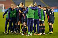 BREDA, NETHERLANDS - NOVEMBER 27: USWNT huddle up during a game between Netherlands and USWNT at Rat Verlegh Stadion on November 27, 2020 in Breda, Netherlands.