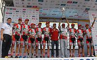 COLOMBIA. 17-08-2014. Boyacá se Atreve fue el equipo que obtuvo el 1er puesto en la clasificación general por equipos de la Vuelta a Colombia 2014 en bicicleta que se cumple entre el 6 y el 17 de agosto de 2014. / Boyaca se Atreve was the champion team in the overal clasification of teams of the Tour of Colombia 2014 in bike holds between 6 and 17 of August 2014. Photo:  VizzorImage/ José Miguel Palencia / Str