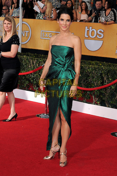 18 January 2014 - Los Angeles, California - Sandra Bullock. 20th Annual Screen Actors Guild Awards - Arrivals held at The Shrine Auditorium. Photo Credit: Byron Purvis/AdMedia<br /> CAP/ADM/BP<br /> ©Byron Purvis/AdMedia/Capital Pictures