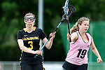 GER - Hannover, Germany, May 31: During the Women Lacrosse Playoffs 2015 match between KIT SC Karlsruhe (pink) and HTHC Hamburg (black) on May 31, 2015 at Deutscher Hockey-Club Hannover e.V. in Hannover, Germany. Final score 3:18. (Photo by Dirk Markgraf / www.265-images.com) *** Local caption *** Eileen Eggers #3 of HTHC Hamburg