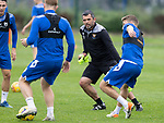 St Johnstone Training….19.08.20<br />Manager Callum Davidson pictured during training at McDiarmid Park this morning ahead of tomorrow's re-arranged game against Aberdeen.<br />Picture by Graeme Hart.<br />Copyright Perthshire Picture Agency<br />Tel: 01738 623350  Mobile: 07990 594431