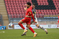 Lee Angol of Leyton Orient tangles with Jordan Moore-Taylor of Forest Green Rovers during Leyton Orient vs Forest Green Rovers, Sky Bet EFL League 2 Football at The Breyer Group Stadium on 23rd January 2021
