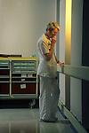 Older nurse in contemplative mood, Williamsport, Pennsylvania