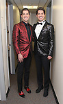 Will Nunziata & Anthony Nunziata backstage at  The American Pops Orchestra '75 Years of Streisand'  at the George Washington University Lisner Auditorium on January 13, 2017 in New York City.