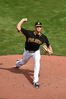 Pittsburgh Pirates pitcher Tyler Glasnow (77) during a Spring Training game against the New York Yankees on March 5, 2015 at McKechnie Field in Bradenton, Florida.  New York defeated Pittsburgh 2-1.  (Mike Janes/Four Seam Images)