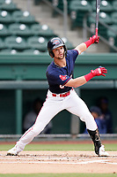 Right fielder Will Dalton (26) of the Greenville Drive in the completion of a suspended game against the Asheville Tourists on Tuesday, August 31, 2021, at Fluor Field at the West End in Greenville, South Carolina. (Tom Priddy/Four Seam Images)