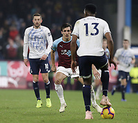 Everton's Yerry Mina under pressure from Burnley's Jack Cork<br /> <br /> Photographer Rich Linley/CameraSport<br /> <br /> The Premier League - Burnley v Everton - Wednesday 26th December 2018 - Turf Moor - Burnley<br /> <br /> World Copyright © 2018 CameraSport. All rights reserved. 43 Linden Ave. Countesthorpe. Leicester. England. LE8 5PG - Tel: +44 (0) 116 277 4147 - admin@camerasport.com - www.camerasport.com