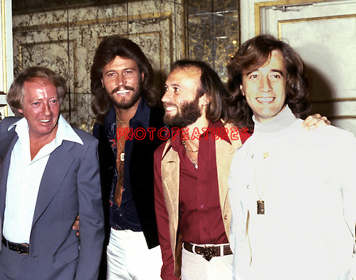 Bee Gees 1978 Robert Stigwood, Barry Gibb,Maurice Gibb and Robin Gibb with Robert Stigwood.© Chris Walter