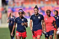 Houston, TX - Sunday Oct. 09, 2016: Crystal Dunn, Ali Krieger prior to a National Women's Soccer League (NWSL) Championship match between the Washington Spirit and the Western New York Flash at BBVA Compass Stadium.