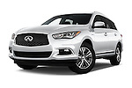 Stock pictures of low aggressive front three quarter view of 2017 Infiniti QX60 Hybrid 5 Door SUV Low Aggressive