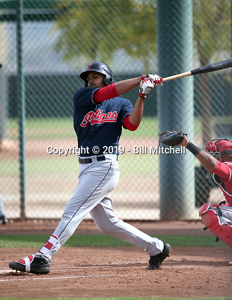 Johnathan Rodriguez - Cleveland Indians 2019 spring training (Bill Mitchell)